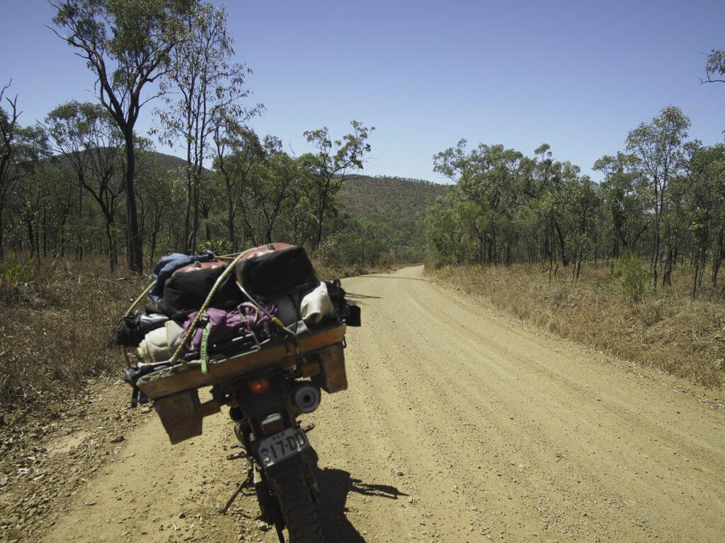 dry tropics dirt road, traveller, Italo Giardina