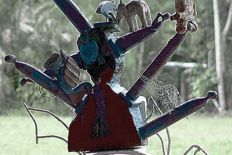 Mixed media sculpture (2015) by Italo Giardina, FNQ.