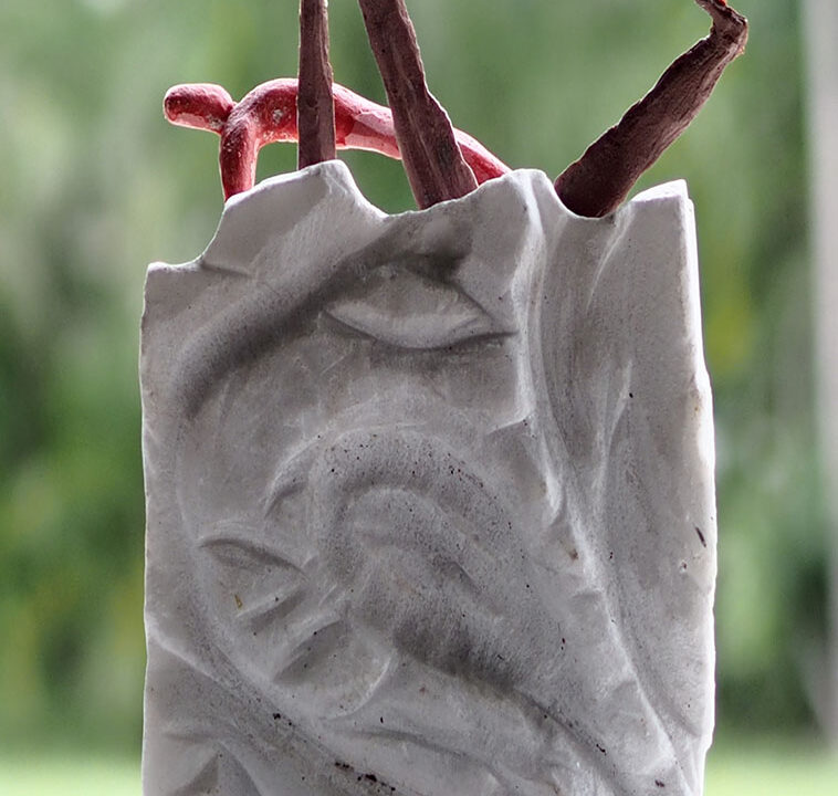 A marble statue and mixed media, north Queensland