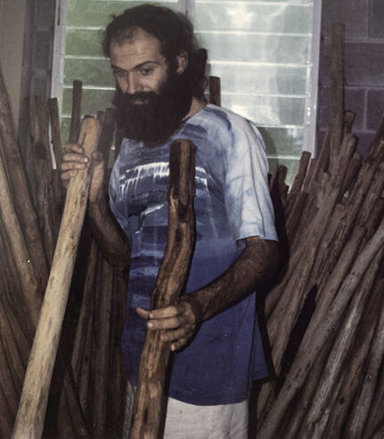 Hollow wood selection in Mission beach studio 1995